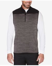 PGA TOUR Gray Men's Mixed-media Vest for men