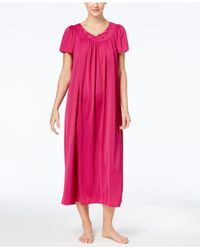 Miss Elaine - Pink Tricot Long Gown - Lyst