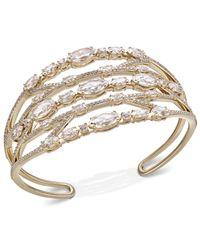 Danori - Metallic Crystal & Stone Openwork Cuff Bracelet, Created For Macy's - Lyst