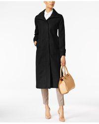 Jones New York - Black Stand-collar Maxi Coat - Lyst