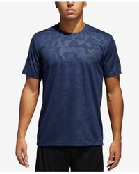 Adidas - Blue Essentials Camo-print Climalite® Training T-shirt for Men - Lyst