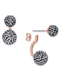 INC International Concepts | Metallic Two-tone Pavé Ball Front-back Earrings | Lyst