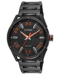 Citizen - Men's Drive Black Ion-plated Stainless Steel Bracelet Watch 42mm Bm6995-51e for Men - Lyst