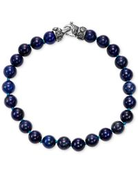 Scott Kay - Blue Men's Lapis Lazuli (8mm) Bead Link Bracelet In Sterling Silver - Lyst