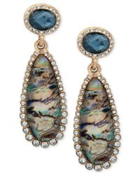 Lonna & Lilly | Gold-tone Pavé, Blue & Multicolor Stone Drop Earrings | Lyst