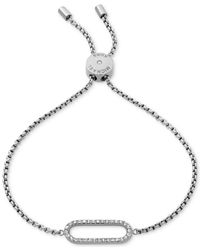 Michael Kors - Metallic Gold-tone Pavé Loop Slider Bracelet - Lyst