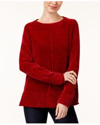 Style & Co. - Red Petite Chenille Sweater - Lyst