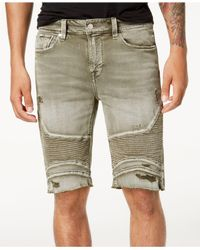 Guess - Green Slim-fit Moto Shorts for Men - Lyst