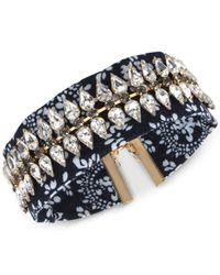 INC International Concepts | Blue Gold-tone Crystal Print Design Choker Necklace | Lyst