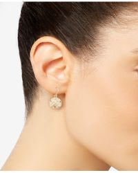 Macy's - Metallic Sand Dollar Drop Earrings In 10k Gold - Lyst