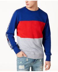 Superdry - Blue Stadium Panel Sweatshirt for Men - Lyst