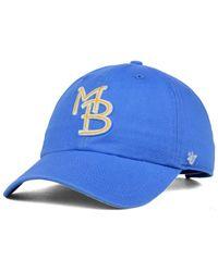 47 Brand   Blue Myrtle Beach Pelicans Clean Up Cap for Men   Lyst