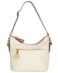 Giani Bernini - White Ostrich Hobo - Lyst