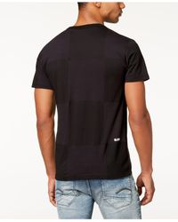 G-Star RAW - Black Rc Jollu Tonal Check Logo-print T-shirt for Men - Lyst