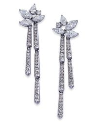 Danori - Metallic Silver-tone Marquise Cluster Dangle Drop Earrings - Lyst