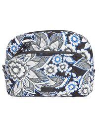 Vera Bradley - Blue Iconic Medium Cosmetics Case - Lyst