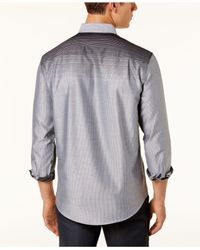 Alfani   Black Men's Ombré Striped Long-sleeve Shirt for Men   Lyst