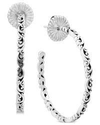 Lois Hill - Metallic Hoop Earrings - Lyst