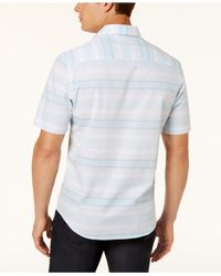 Alfani | White Men's Parktron Stripe Shirt for Men | Lyst