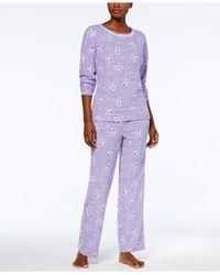 Charter Club | Purple Thermal Fleece Pajama Set | Lyst