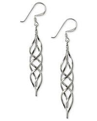 Giani Bernini | Metallic Spiral Drop Earrings In Sterling Silver | Lyst
