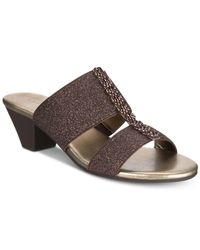 Karen Scott - Brown Zaila Slip-on Sandals, Created For Macy's - Lyst