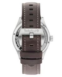 Timberland - Men's Farmington Chocolate Brown Leather Strap Watch 44mm for Men - Lyst