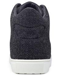 Guess - Black Men's Towman High-top Herringbone Sneakers for Men - Lyst