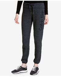 Calvin Klein | Gray Slim Fleece Sweatpants | Lyst