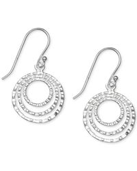 Giani Bernini - Metallic Hammered Triple Gypsy Hoop Earrings In Sterling Silver - Lyst