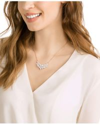 Swarovski - Pink Rose Gold-tone Crystal & Pavé Collar Necklace - Lyst