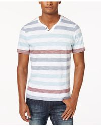 INC International Concepts - White Men's Heathered Striped T-shirt for Men - Lyst