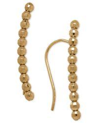 Macy's - Metallic Curved And Beaded Ear Crawler Earrings In 14k Gold - Lyst