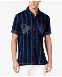 INC International Concepts - Blue Chain Print Shirt, Created For Macy's for Men - Lyst