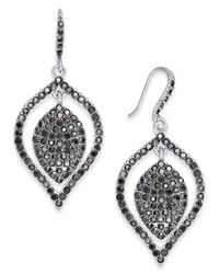 INC International Concepts - Metallic Silver-tone Hematite Pavé Drop Earrings - Lyst