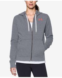 Under Armour | Gray Favorite Fleece Zip Hoodie | Lyst