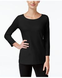 Charter Club - Black Cashmere Embellished Sweater - Lyst