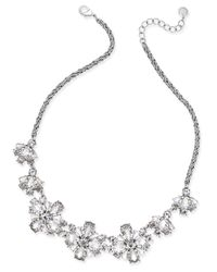 Charter Club - Metallic Floral Crystal Collar Necklace - Lyst