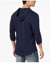 INC International Concepts - Blue Men's Hooded T-shirt for Men - Lyst