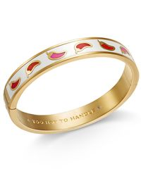 Kate Spade - Metallic Gold-tone Chili Pepper Bangle Bracelet - Lyst