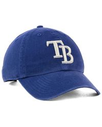 sale retailer ff0e2 1d249 ... best price lyst 47 brand tampa bay rays timber blue clean up cap in  blue for