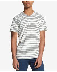DKNY - White Classic Fit Mercerized Stripe T-shirt for Men - Lyst
