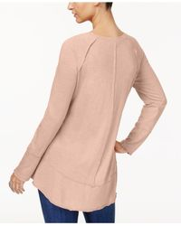 Style & Co. - Multicolor Petite Seamed High-low Top, Created For Macy's - Lyst