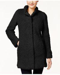 Kenneth Cole - Black Plus Size Faux-fur Coat - Lyst