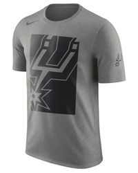 5e138ab61fae Lyst - Nike San Antonio Spurs Cropped Logo T-shirt in Gray for Men