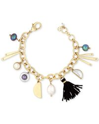 Lucky Brand - Metallic Gold-tone Charm Bracelet - Lyst