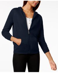 Charter Club - Blue Cashmere Zippered Hoodie - Lyst