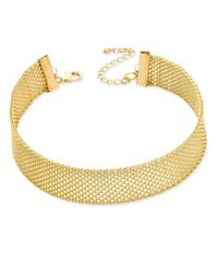 INC International Concepts - Metallic Rose Gold-tone Mesh Choker Necklace - Lyst