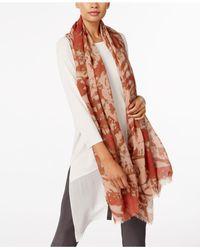 Eileen Fisher - Multicolor Fringe Wrap Scarf - Lyst