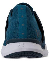 Under Armour Blue Women's Threadborne Slingwrap Running Sneakers From Finish Line